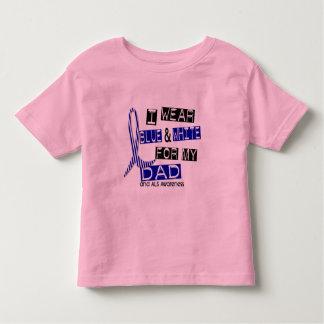 Desgaste del ALS I azul y blanco para mi papá 37 Playera De Bebé