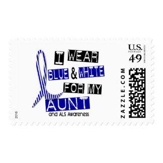 Desgaste del ALS I azul y blanco para mi tía 37 Sello