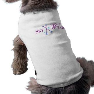 Desgaste del esquí camisa de mascota