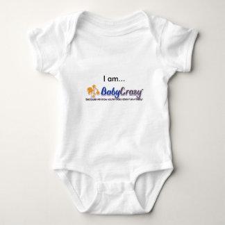 Desgaste del logotipo de BabyCrazy del bebé Polera