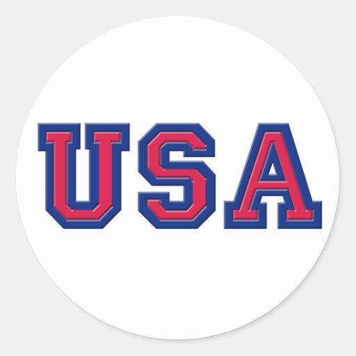 Desgaste del logotipo de los E.E.U.U. Pegatinas Redondas