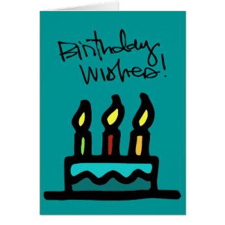 desgaste del wallie del feliz cumpleaños tarjeta pequeña