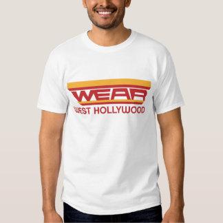 DESGASTE Hollywood del oeste Camisas