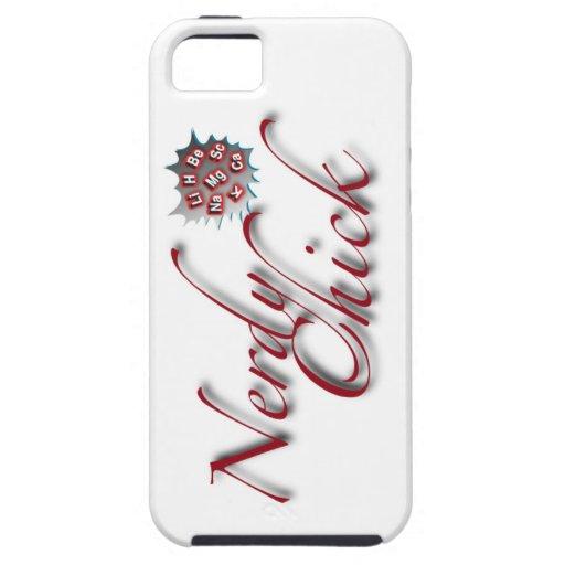 Desgaste Nerdy de la moda del polluelo iPhone 5 Case-Mate Carcasa