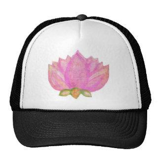 Desgaste rosado de la yoga del flor del loto de gorras de camionero