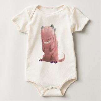 Desgaste rosado del bebé del monstruo del calcetín enteritos