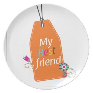Desgin de los mejores amigos BFF Platos