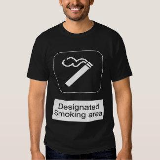 desginated smokeing area tee shirt