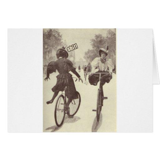 Desgracia de ciclo del Victorian Tarjeta De Felicitación