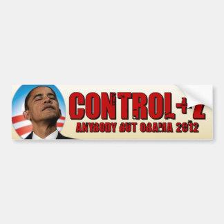 Deshaga a Obama 2012 - control + Z Pegatina Para Auto