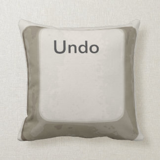 Deshaga el botón/la almohada blanca/gris de la cojín decorativo