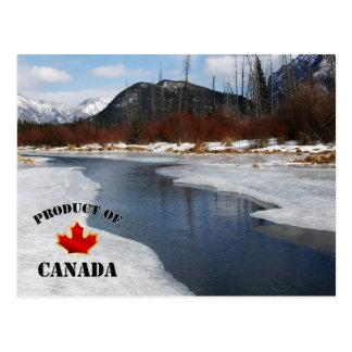 Deshielo de la primavera en Banff Postal