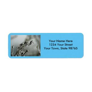 Deshielo de plata etiqueta de remitente