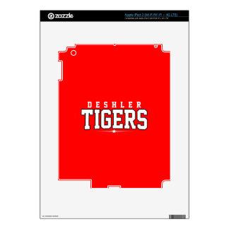 Deshler High School; Tigers Decals For iPad 3