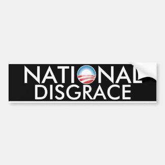 Deshonra nacional de Obama Pegatina Para Auto
