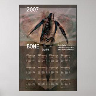Deshuese el calendario 2007 del poster de la pinta