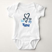 Desi Baby Onsie - Luv My Nana 1 Baby Bodysuit