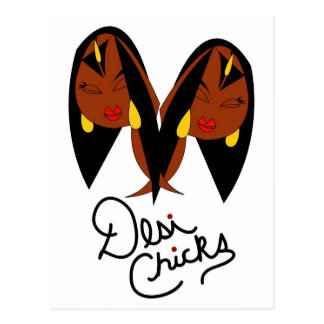Desi Chick Inspired Items Postcard