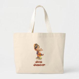 Desi Dancer Large Tote Bag