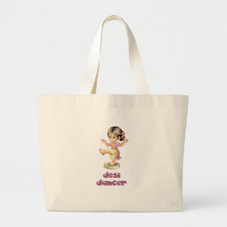Desi Dancer Purple Large Tote Bag