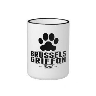 Desi del papá de Bruselas Griffon DadThis Bruselas Taza A Dos Colores