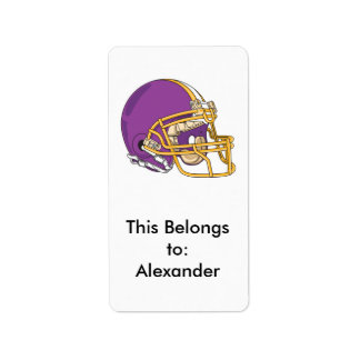 desi del vector del casco de fútbol americano del  etiqueta de dirección