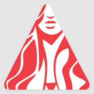 Desi girl triangle sticker