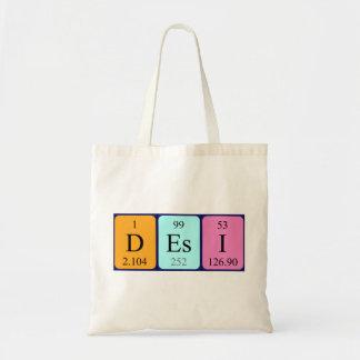 Desi periodic table name tote bag