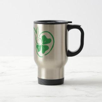 Desi with shamrock 15 oz stainless steel travel mug