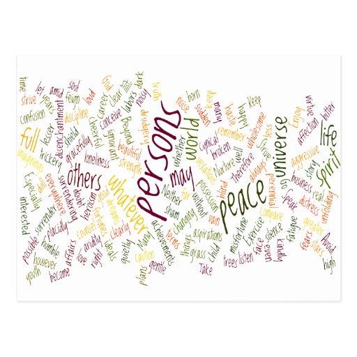 Desidera(R)ta positive words Postcards
