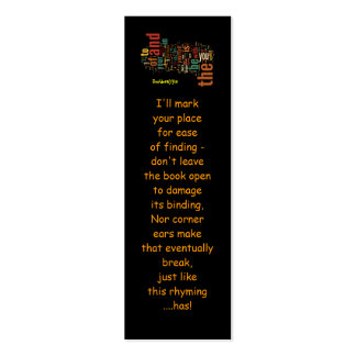 Desidera(R)ta Word Art bookmarks Business Cards