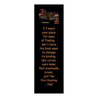 Desidera(R)ta Word Art bookmarks Mini Business Card