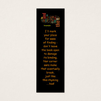 Desidera(R)ta Word Art bookmarks Mini Business Card
