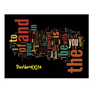 Desidera(R)ta Word Art post cards