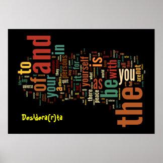 Desidera R ta Word Art poster print