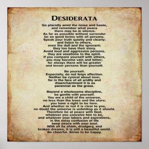 image about Desiderata Printable known as Desiderata Posters Photograph Prints Zazzle