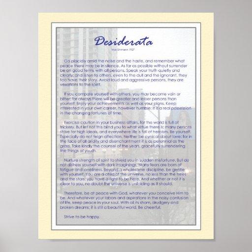 Desiderata (8.5 x 11) posters