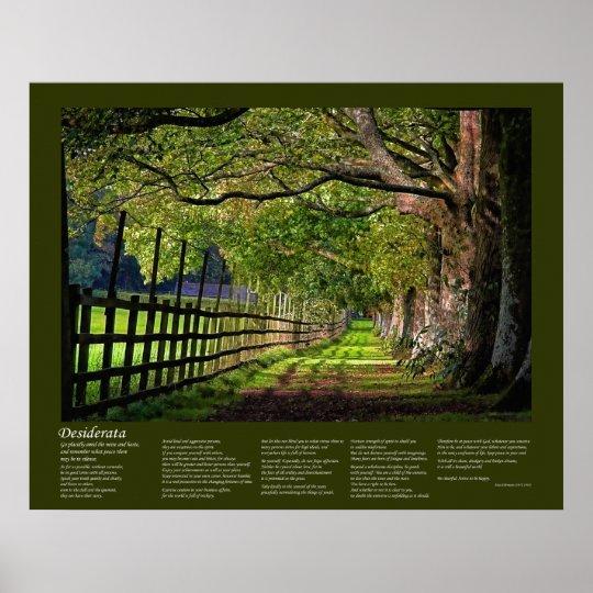 Desiderata - A Walk In The Park Poster