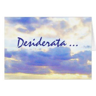 DESIDERATA Air Element Skyscape Cards