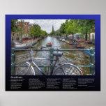 Desiderata - Amsterdam Canal Bridge View and Bike Poster