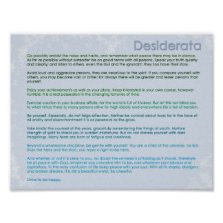 Desiderata and Butterflies Posters