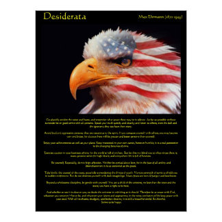 Desiderata  bald eagle 1Posters Posters