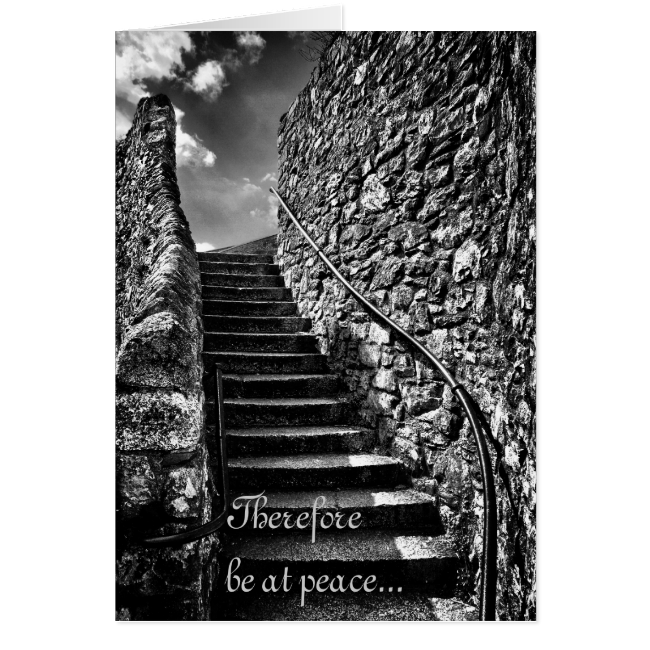 Desiderata Be At Peace notelet / card