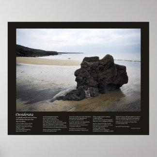 Desiderata - Beach Rock Print