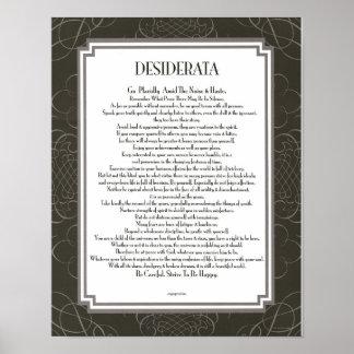 DESIDERATA Blackswirl Sans Print
