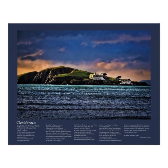 Desiderata - Burgh Island at Sundown Poster