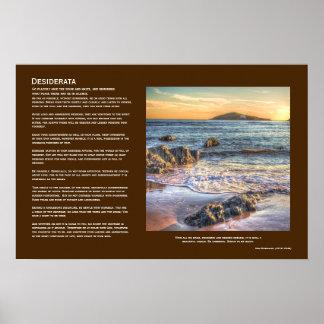 Desiderata - Burgh Island from Bantham at Sundown Posters