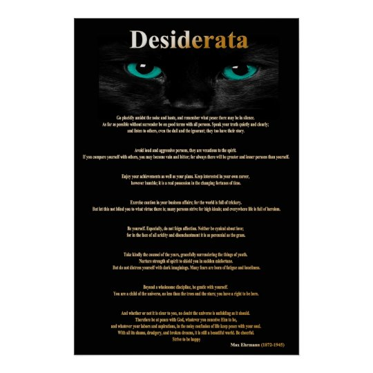 Desiderata Cat Eyes 2 Posters