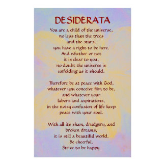 DESIDERATA Changing Daisy poster