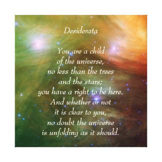 Desiderata Child of Universe Canvas Print